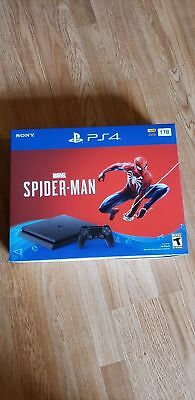 BRAND NEW PlayStation 4 (PS4) Slim 1TB Marvel's Spider-Man Console Bundle -Black