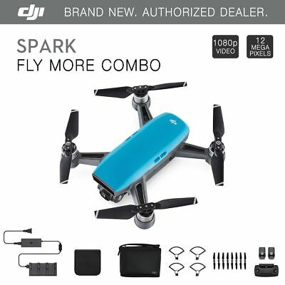 DJI Spark Fly More Combo - Sky Blue Quadcopter Drone + $75 eBay Gift Card!
