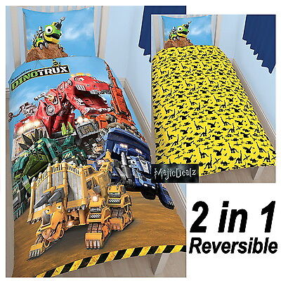 Dinotrux Mechanix Single Duvet Cover Set Boys Bedding Trucks New Official