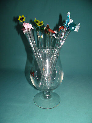 17 Bird flower seahorse fish pig Stirrer Glass Cocktail Stirrers Swizzle sticks