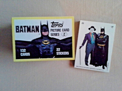 1989 Batman The Movie Series 2 Trading Card Set  -  132 Cards + 22 Stckers