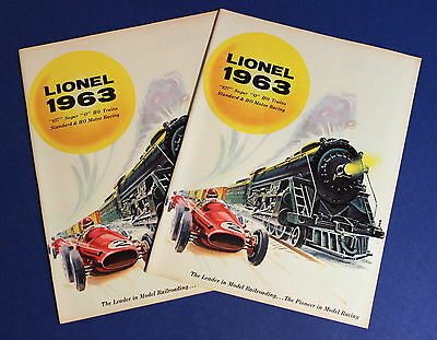 Lot 2 Lionel 1963 Catalogs 027 / Super O/ HO/ Standard Trains & HO Motor Racing