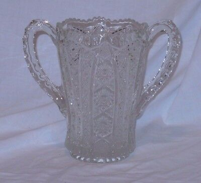 Imperial Glass Daisy & Button Vintage Trophy Vase