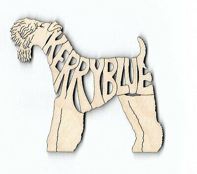 Kerry Blue Terrier Dog laser cut and engraved wood Magnet Great Gift Idea
