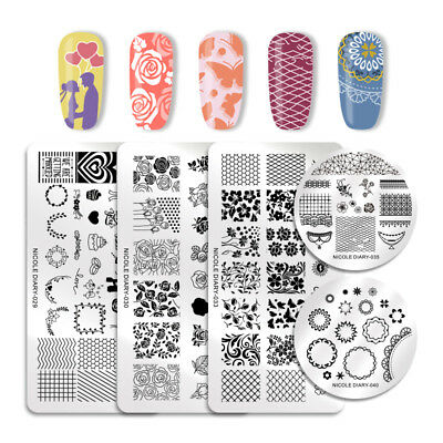 NICOLE DIARY Nail Art Stamping Plates Image Templates Tips Decoration Collection