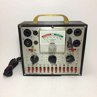 Rare Micronta Tube Tester Model 22-012 Bakelite Shell Powers On (Untested)