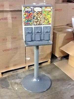 3) Vendstar 3000 3 Head Canister Own A Small Business Vending Candy Machine