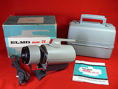 Vintage ELMO CV SLIDE PROJECTOR Complete & Working RETRO 60'S ATOMIC AGE DESIGN