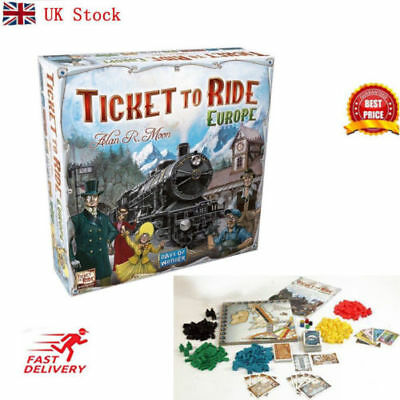Ticket to Ride Europe Board Game - Brand New Sealed Christmas Birthday Gift Toy