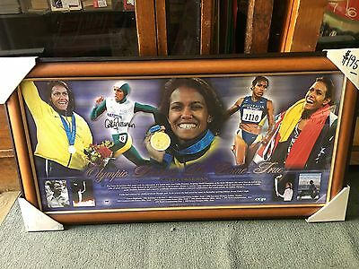 Cathy Freeman Framed Sydney Olympics Gold Medalist Hand Signed Limited Ed.