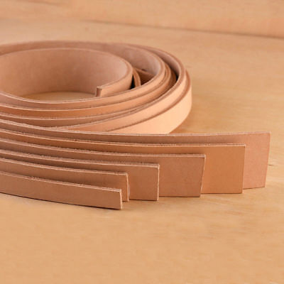 110/100cm Natural Veg Tanned Cowhide Leather Belt Strap 2.5/4mm Thick Pick Width