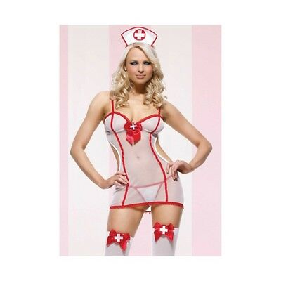 714718395159 COSTUME  INFERMIERA ROLEPLAY NIGHTSHIFT NURSE - Taglia UNICA