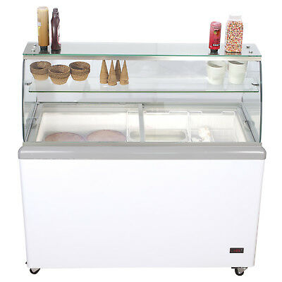 JET 52-inch 8 Flavor 14cf LED Commercial Ice Cream Dipping Cabinet Freezer JDC8