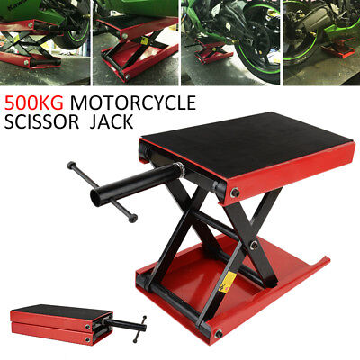 Motorcycle Motorbike Bike Scissor Lift Jack Stand Paddock Table Bench Workshop
