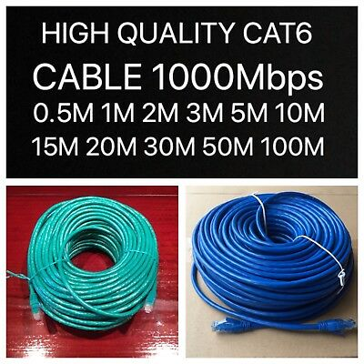 0.5m 1m 2m 5m 10m 20m Cat6 Network Ethernet Cable 100M/1000Mbps