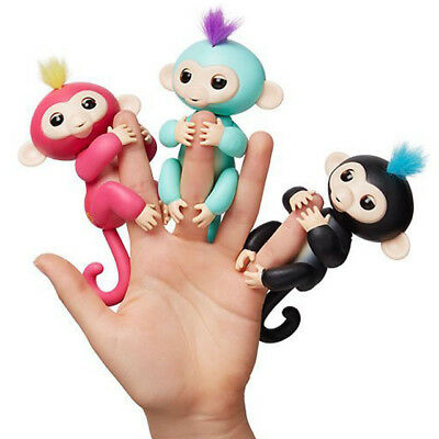Finger Baby Monkey Lings Toy Electronic Pet Kids Interactive