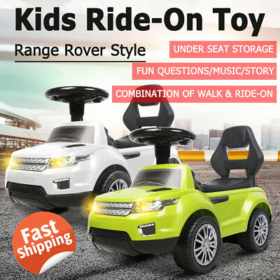 Kids Ride-On Toy Land Rover Style Car Push Foot-to-Floor Toddler Walker Music OZ