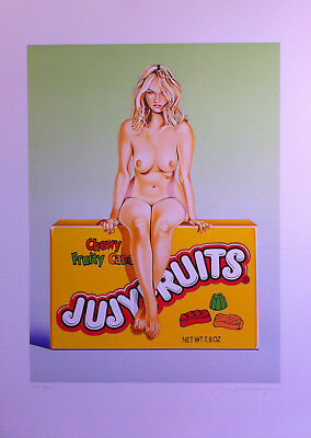 Mel Ramos, Jujyfruits Judy, sign. + num.