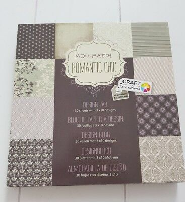 30 Blätter Design Block Mix&Match 15×15 cm Neu