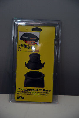 "NEW Hoodman HoodLoupe 3.0"" BASE for LCD Screens (please see details)"