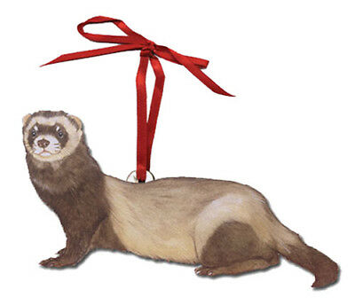 Ferret Wooden Ornament