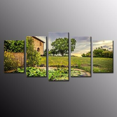 HD Painting Print Modern Wall Art Decor Green Trees Photo on Canvas Picture 5pcs