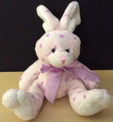 """MARCH OF DIMES PLUSHLAND Dots Bunny Rabbit Easter Plush Stuffed Animal Toy.""""D"""""""