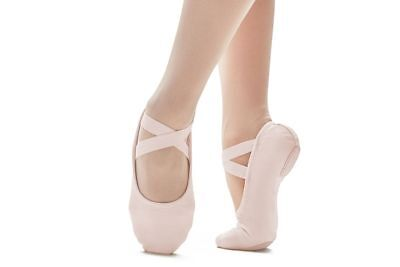 So Danca Split Sole Canvas Ballet Shoes SD120 Pink or White Left and Right shoe