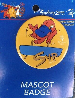 Sydney 2000 OLYMPIC GAMES MASCOT SYD Platypus Volting Horse Gymnastic PIN BADGE