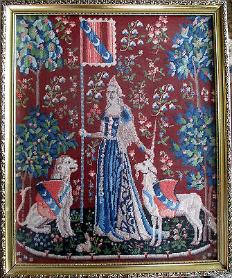 French Cluny Unicorn Tapestry Needlepoint