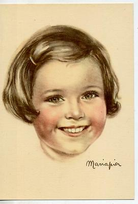MARIAPIA Girls & Boys Childrens Complete set of 8 postcards PC Circa 1950 Italy