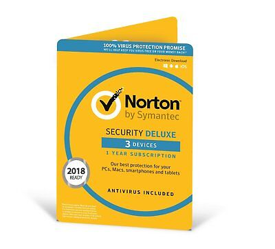 Norton Security Deluxe 3 Devices 1 year Multi-Device - Download Version