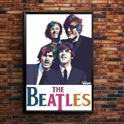 The Beatles Poster Vintage music concert A3 A4-11