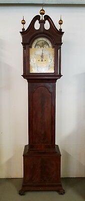 Antique Mahogany Tall Case Grandfather Clock by ELLIOTT of LONDON