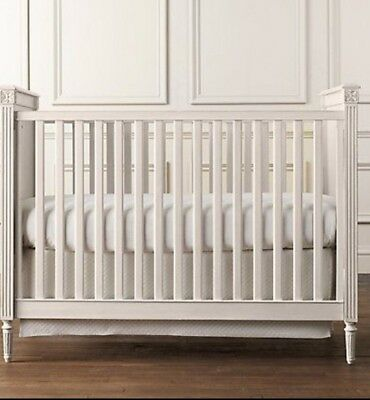 Restoration hardware Emelia Crib, Dresser, Conversion Kit, And Topper