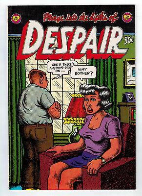 Despair #1 8.0 1St Print Higher Grade Crumb 1969 Off-White Pages