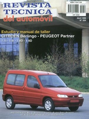 MANUAL DE TALLER CITROEN BERLINGO/PEUGEOT PARTNER desde 1996 RT59