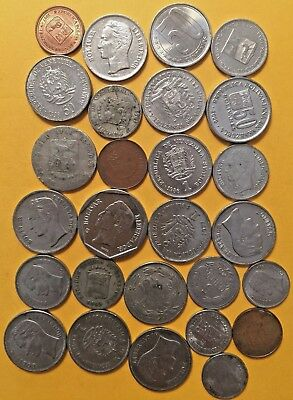 WORLD COINS LA1: Big lot of mixed coins VENEZUELA