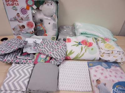 Tummy Time Play Mat Boppy Shopping Cart Cover Blankets Changing Table Cover LOT