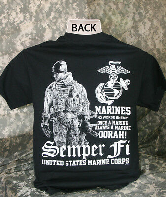1d62925a US Marines Corps Semper Fi T-Shirt OORAH Military Patriotic USA New Cool  Gift