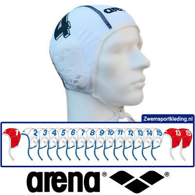 Arena Waterpolo cap teamset wit 17
