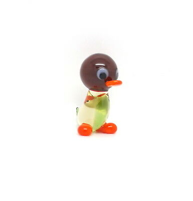Handmade Glass Duckling Figurine Lovely Gift For Husband Brother Son Lamp Work