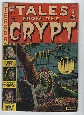 Tales From The Crypt #22 Golden Age Pre-Code Horror Scarce Canadian Variant Key