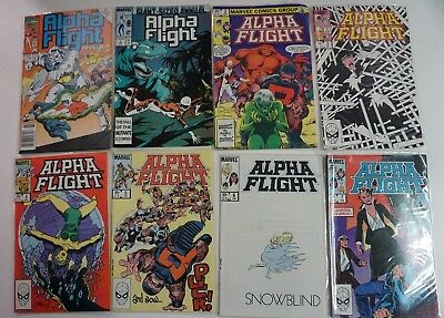 BIG BOX READER LOT of 69+ Comics ALPHA FLIGHT RUN 1-123 Minus 1 Annuals MUST SEE