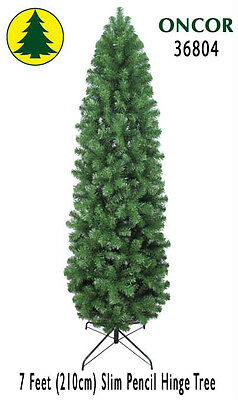 7ft Eco-Friendly Oncor Slim Pencil Christmas Tree [Open Box]