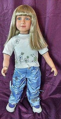 My Twinn - Blonde Blue Eyes Poseable  Doll with Clothes bracelet shoes