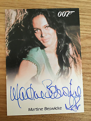 James Bond Archives 2014 Full Bleed Autograph Card Martine Beswicke as Zora