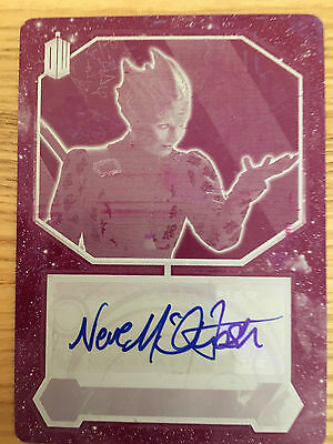 Topps Doctor Who 2015 Magenta Printing Plate Autograph Neve McIntosh Vastra 1/1