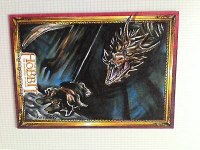 The Hobbit Desolation of Smaug Sketch Card by  Archilleas Kokkinakis