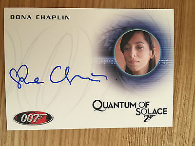 James Bond Archives 2014 Autograph Card Oona Chaplin A246